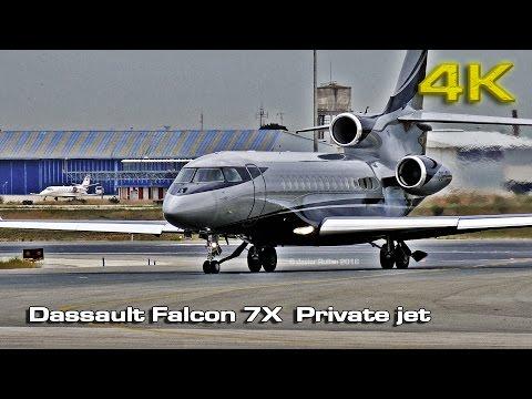 Dassault Falcon 7X  Private jet [4K]