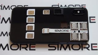 Install 5 SIM cards in an iPhone X with SIMore WX-Five X