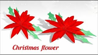 christmas flower - diy: how to make a paper flower christmas wreath- Tuber Tip