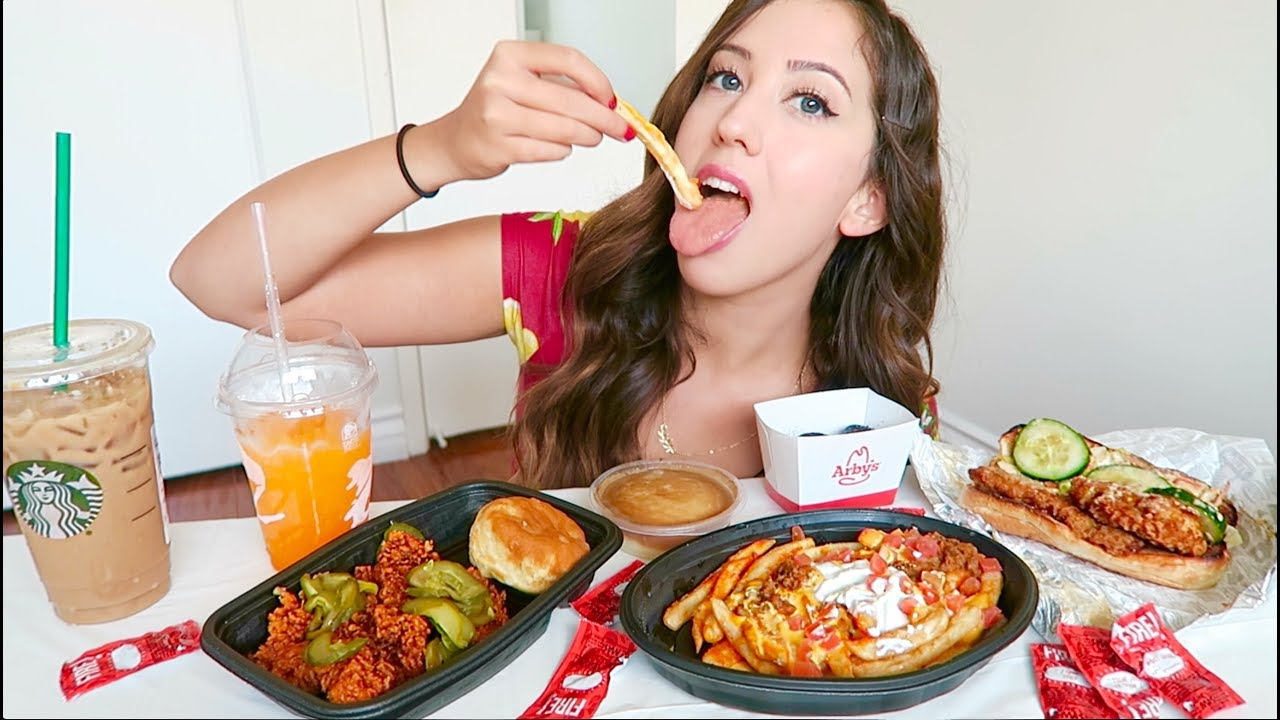 NEW FAST FOOD MUKBANG TACO BELL KFC JACK IN THE BOX Eating Show