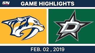 NHL Highlights | Stars Vs. Predators - Feb. 2, 2019