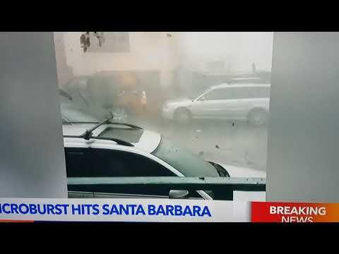 Santa Barbara microburst