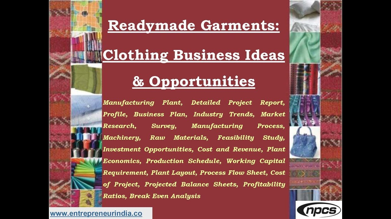 Readymade Garments: Clothing Business Ideas & Opportunities - YouTube