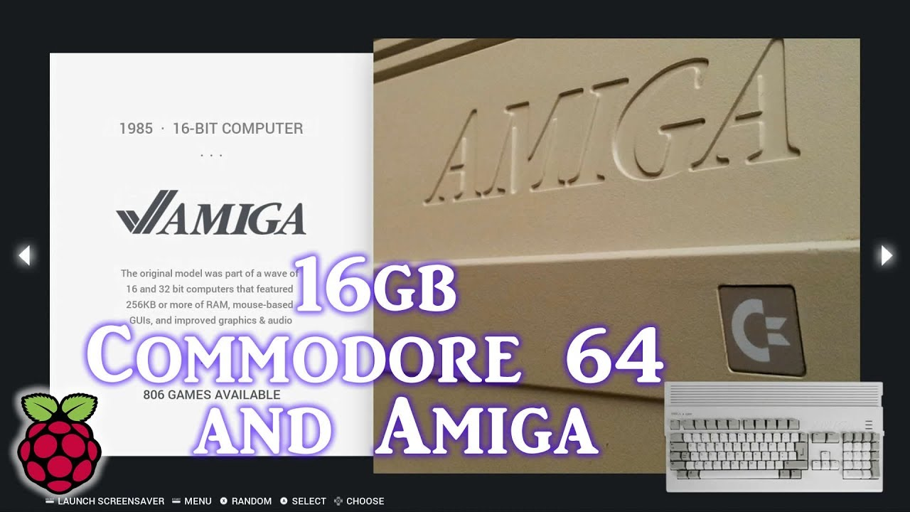 Commodore 64 & Amiga Only Raspberry Pi 3 B+ Image - 6,000 Games