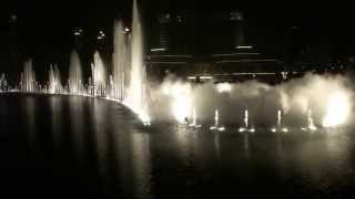 World's Largest Dancing Fountain-The Dubai Fountain Performing: Enta Omry