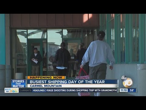 Busiest shipping day of the year