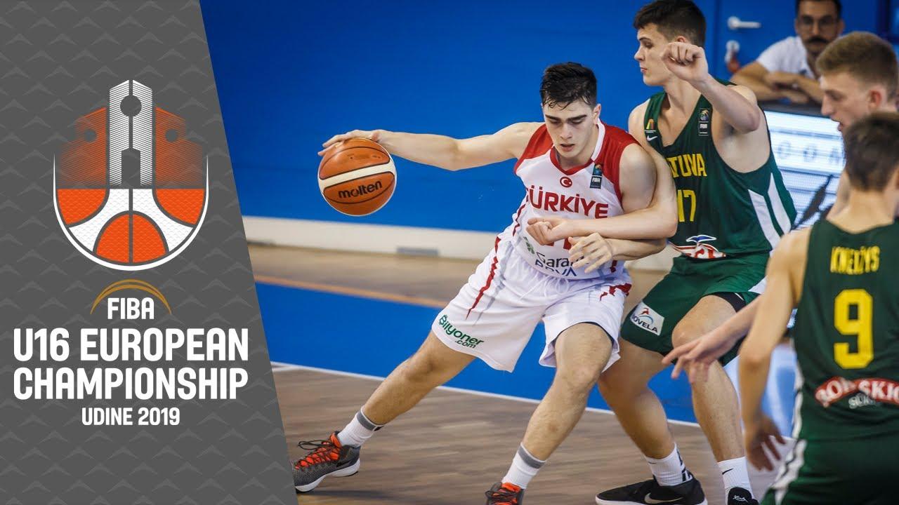 Turkey v Lithuania - Full Game - FIBA U16 European Championship 2019