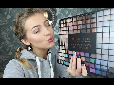 Makeup Revolution 144 Eyeshadow Palette 2016 Collection Review & Swatches