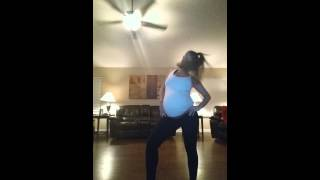 Dancing at 41 weeks pregnant to Beyonce - Baby Momma