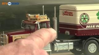 Oud-trucker Grootegast wacht acht jaar op miniatuur vrachtwagen - RTV Noord