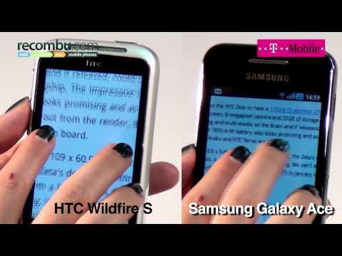 HTC Wildfire S Vs Samsung Galaxy Ace video comparison