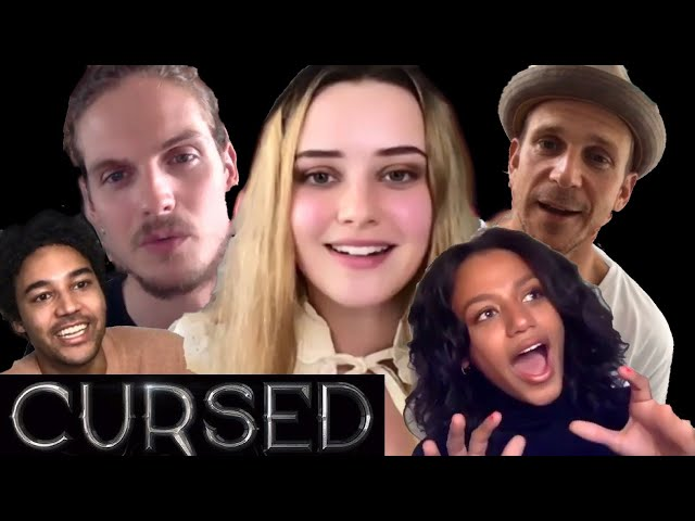 CURSED Cast Interviews: Katherine Langford, Daniel Sharman, Gustaf Skarsgard, Newmark, Terrell