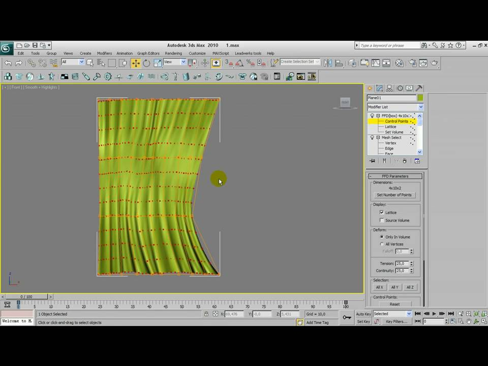 3d Max Modeling tutorial curtains YouTube