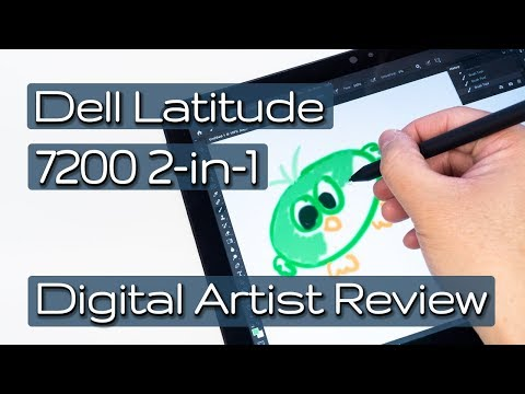 Dell Latitude 7200 2-in-1 Digital Artist Review (inc Krita) with Dell PN579X and PN557W Pens