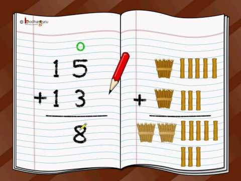 Maths -  Adding two digit numbers - English