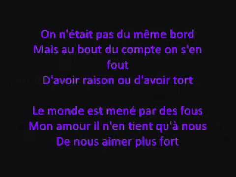 Celine Dion- L'amour existe encore (lyrics)