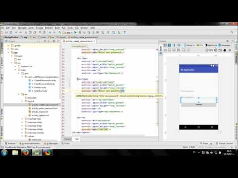 Develop Password protected app in Android Studio
