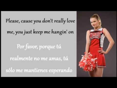 Glee: You Keep Me Hangin' On (Lyrics + Español)