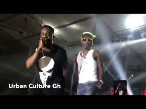 Awwww!!! Sarkodie Brings Ghana 2Pac (SUPA) on Stage and Performs With Him At the Glo Concert