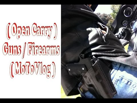 Open Carry On Motorcycle (MotoVlog) Guns / Firearms