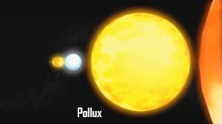 Planets and Stars Size Comparison HD