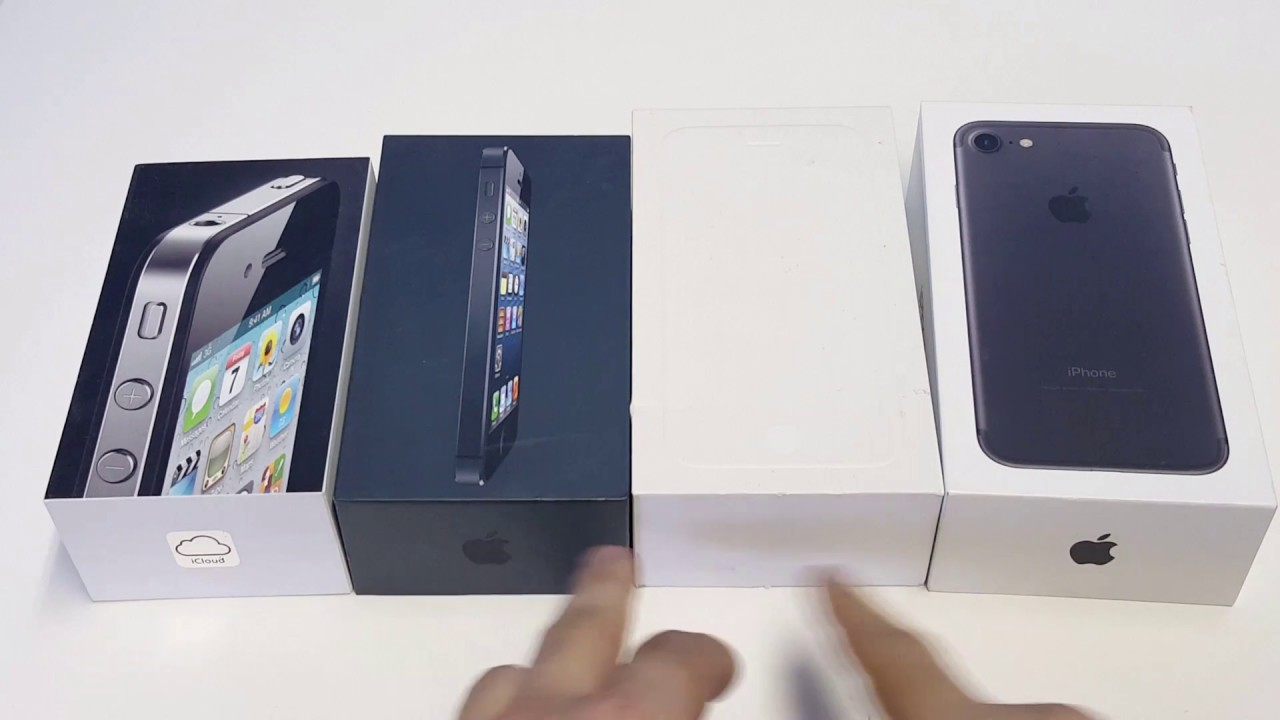 Iphone 7 / Iphone 6 / Iphone 5 / Iphone 4s Box Comparison ...