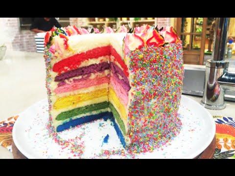Torta arco iris de verano