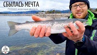 СБЫЛАСЬ РЫБАЦКАЯ МЕЧТА МОРСКАЯ ФОРЕЛЬ Наконец то я поймал её Рыбалка в Норвегии Норвегия рыбалка