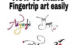 كيفية إنشاء Fingertrip الفن و الفن النص التركيز N فلتر 2016