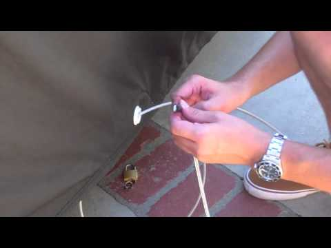 How to Install a Car Cover Cable & Lock Kit by California Car Cover