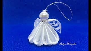 Рождественский ангел Канзаши / Украшение на ёлку / Christmas angel
