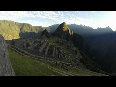 Machu Picchu sunrise timelapse