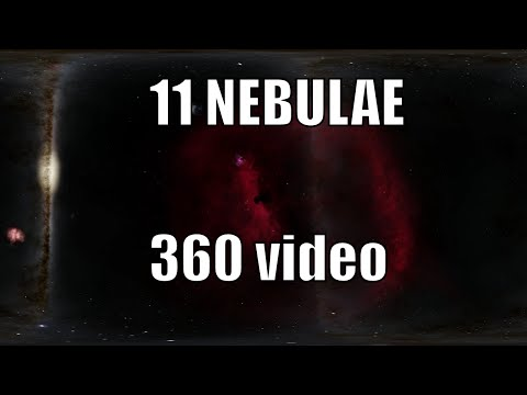 Visiting 11 Nebulae in 360 - Space Engine