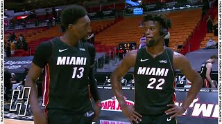 Jimmy Butler Trolls Bam Adebayo During Postgame Interview - Jazz vs Heat | February 26, 2021