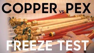 Copper vs Pex vs SharkBite - Freeze Testing