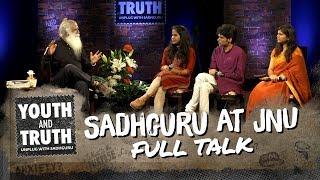 sadhguru at jnu youth and truth full talk
