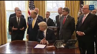 President Trump Announces Approval of Keystone Pipeline 3/24/17