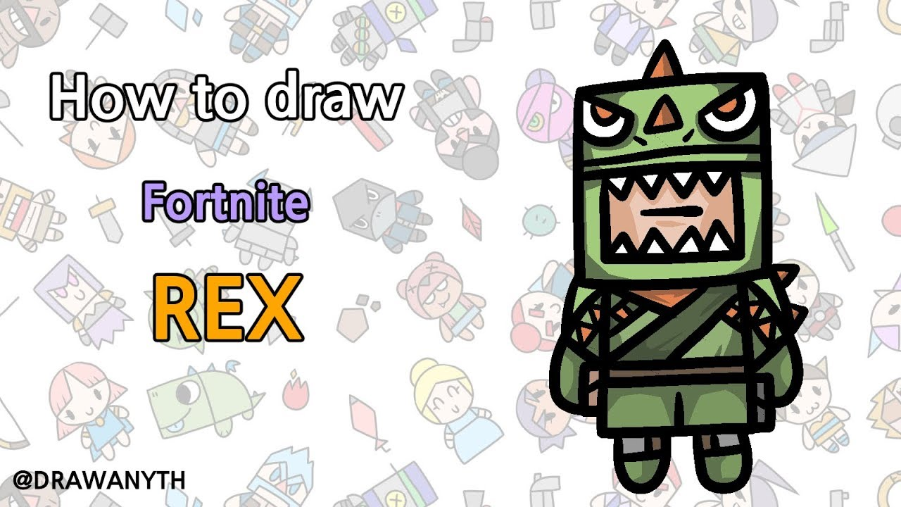 How To Draw Rex Fortnite Youtube