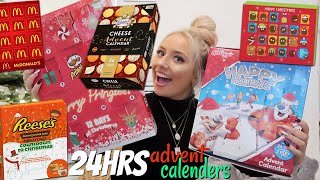 I ONLY ate ADVENT CALENDARS for 24hours! Video