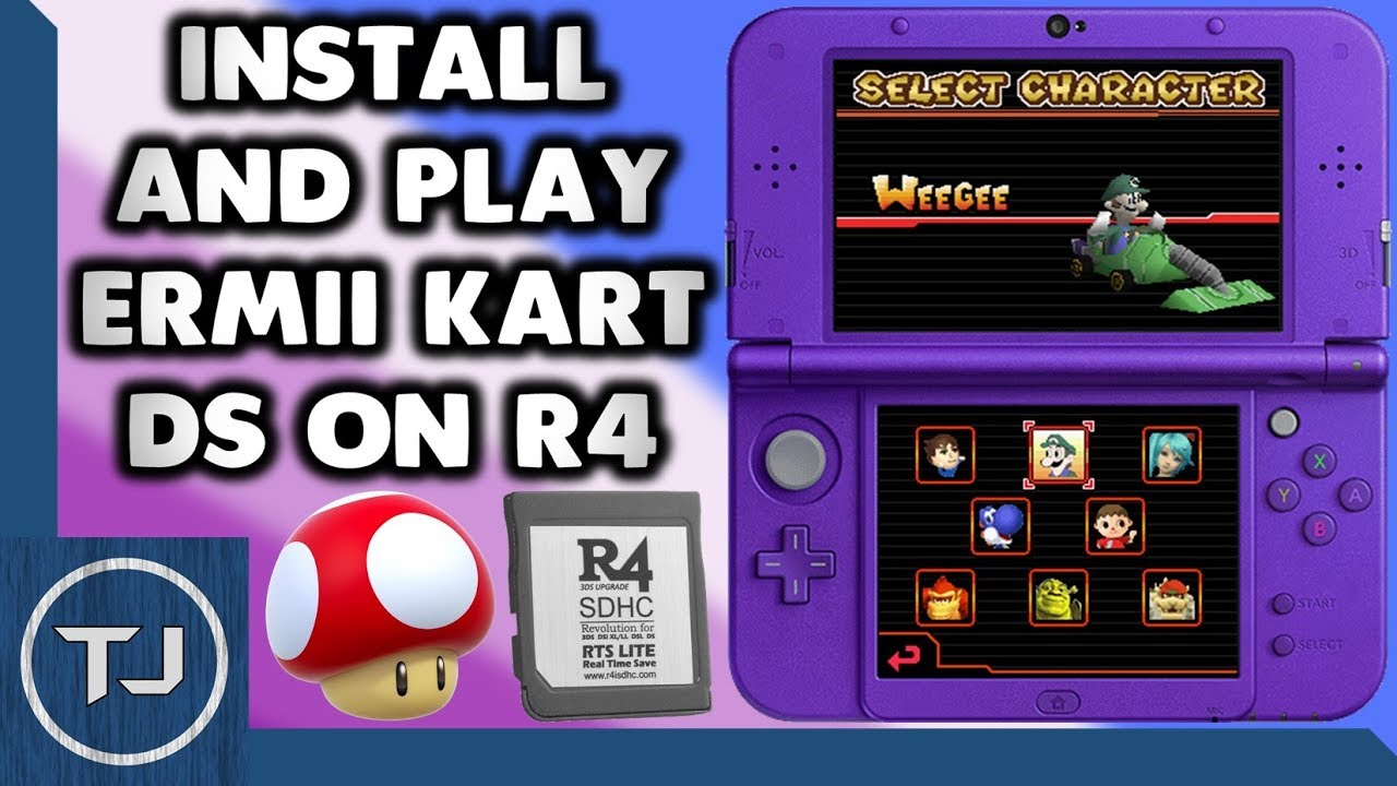 Install Ermii Kart DS ROM Hack On R4! (DS/DSi/3DS)