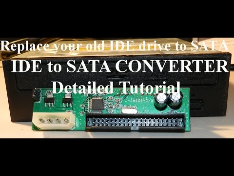 Replace or upgrade IDE to SATA dvd Drive or Hard Drive
