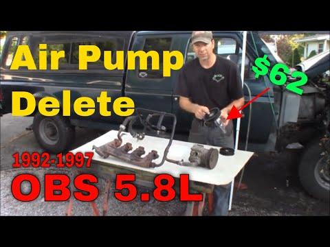 1992-1997 OBS Ford Truck 5.8L Air Pump Smog Pump Delete