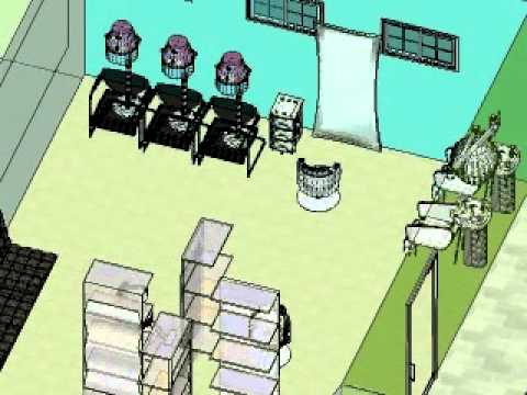 salon de belleza en 3d con sketchup 7pro youtube. Black Bedroom Furniture Sets. Home Design Ideas