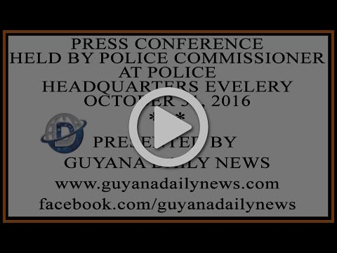Press Conference held by Police Commissioner || Presented by