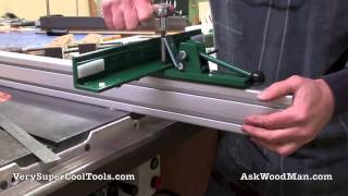 "2/6 Adjustable Throat T-square Table Saw Fence - Mounting The Fence On A 2""x2"" Guide Rail"