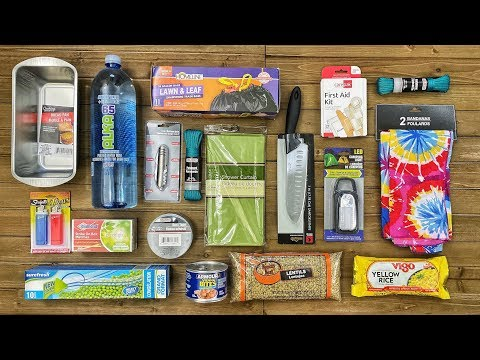 $20 Dollar Tree Survival Kit - 7 Day Survival Challenge - The Build