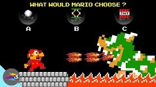 How should Mario choose the best option to WIN