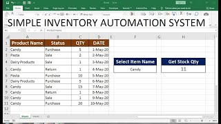For details about your existing equipment, an excel inventory template stores everything you need, including stock number, physical condition, and financial status. Simple Inventory Template Youtube