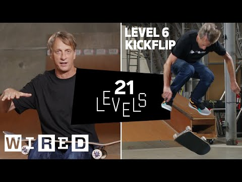 21 Levels of Skateboarding with Tony Hawk: Easy to Complex | WIRED