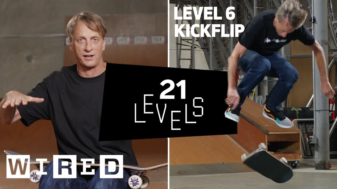 21 Levels of Skateboarding with Tony Hawk: Easy to Complex